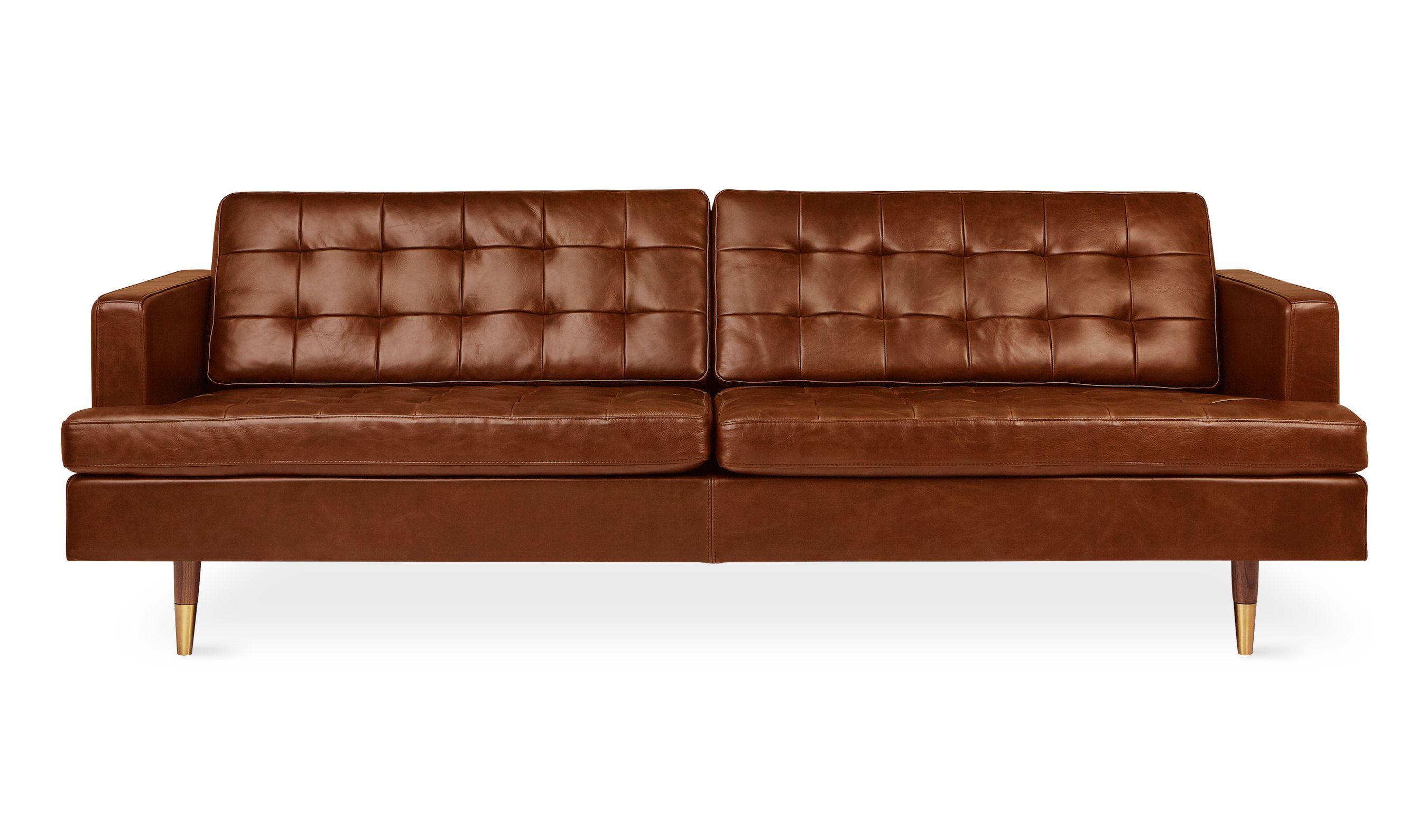 Archer Sofa Sofas Sleepers Gus Modern Brown Living Room Decor Leather Sofa