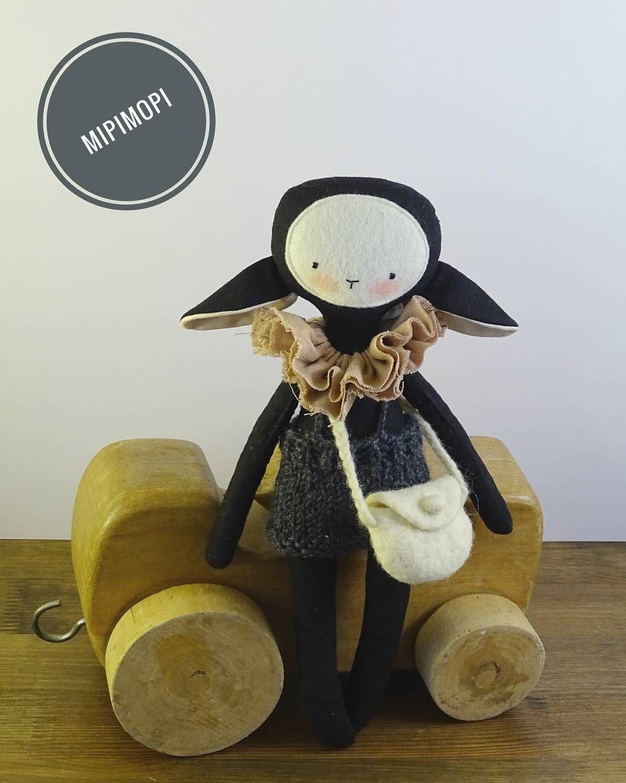 Black lamb ☺💕 handmadedoll heirloomdoll clothdolls