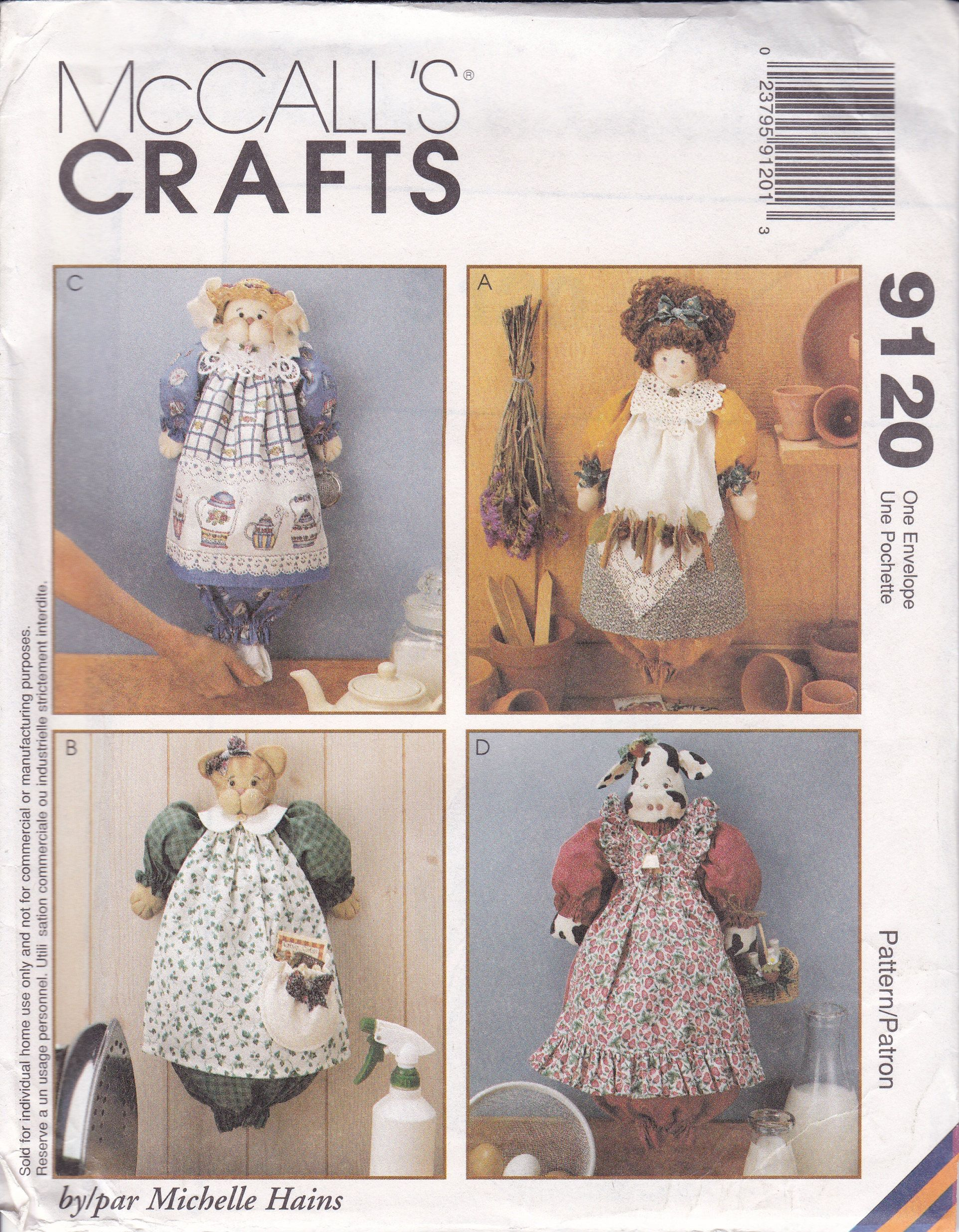 Free us ship mccalls 9120 plastic bag dolls recycle bags grocery vintage grocery bag holder doll cat bunny rabbit cow sewing pattern mccalls crafts 9120 uncut by sandritocat on etsy jeuxipadfo Images