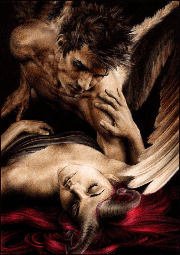 Angel And Demon Forbidden Love Art