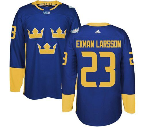 Team Sweden 23 Oliver Ekman Larsson Blue 2016 World Cup Stitched Nhl Jersey With Images Hockey World Cup Nhl Jerseys Hockey Jersey