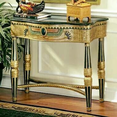 Egyptian Furniture   Egyptian   Design Toscano Look Good In A Hallway!