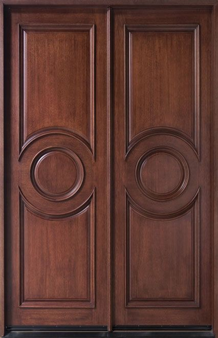 Entry Door In Stock Double Solid Wood With Dark Mahogany Finish Frenchcollection Model Mahogany Entry Doors Wood Exterior Door Mahogany Doors