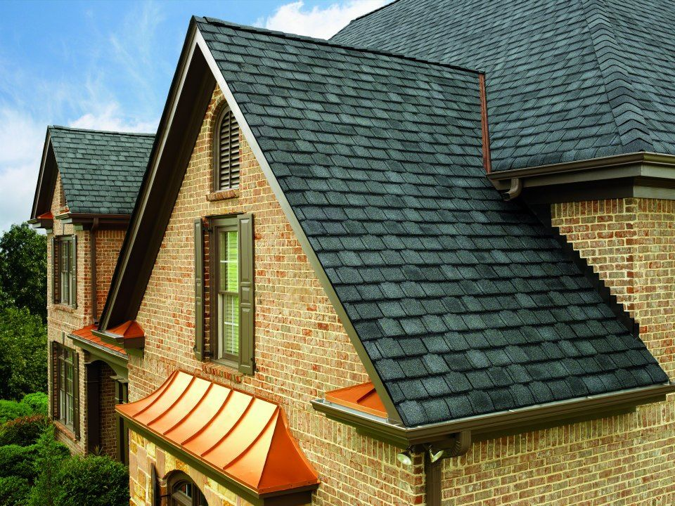 GAF Camelot Shingles In Antique Slate