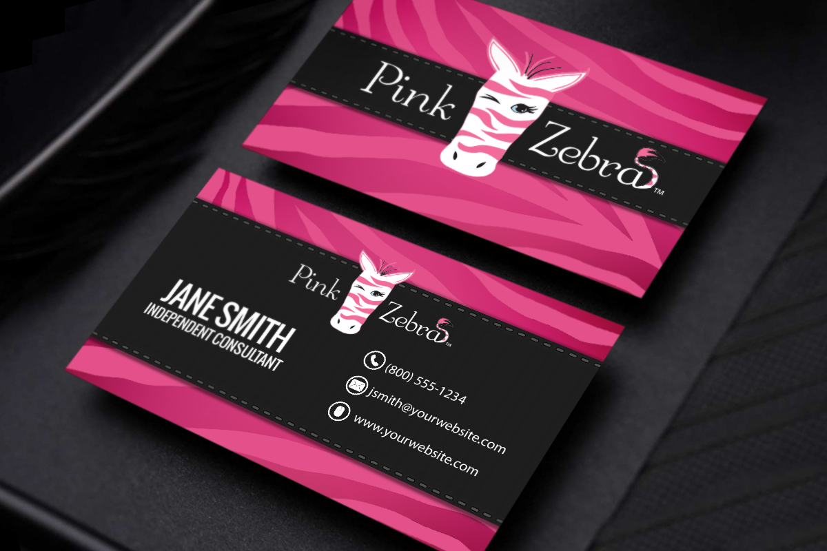 All New Business Card Designs For Pink Zebra Affiliates Are Now Available Mlm Pinkzebra Print Pap Pink Zebra Printing Business Cards Free Business Cards