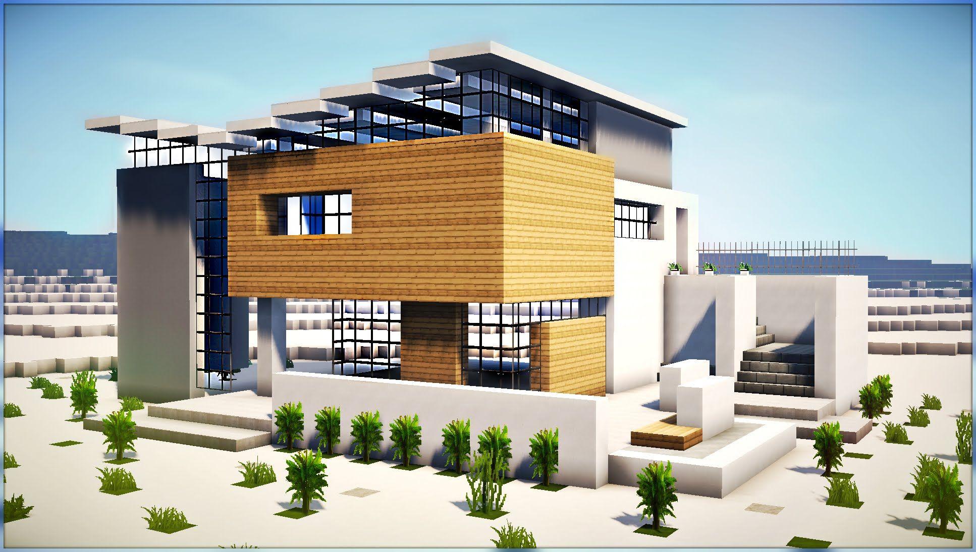 Einfaches hausdesign hd  minecraft how to build modern beach house part   minecraft