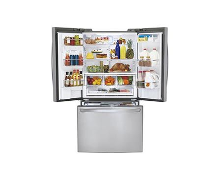Super Capacity 3 Door French Door Refrigerator With Smart Cooling