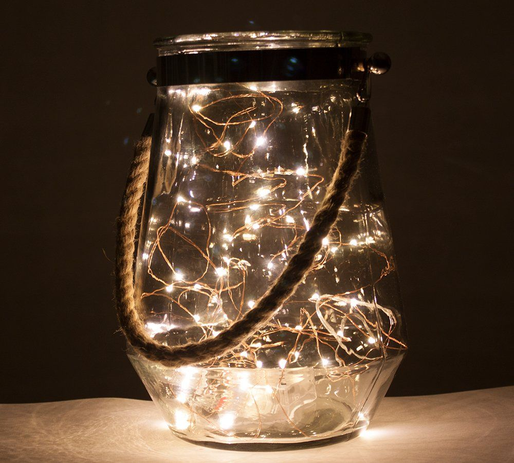 Twitter Vase With Lights Copper Wire Fairy Lights Hurricane Vase