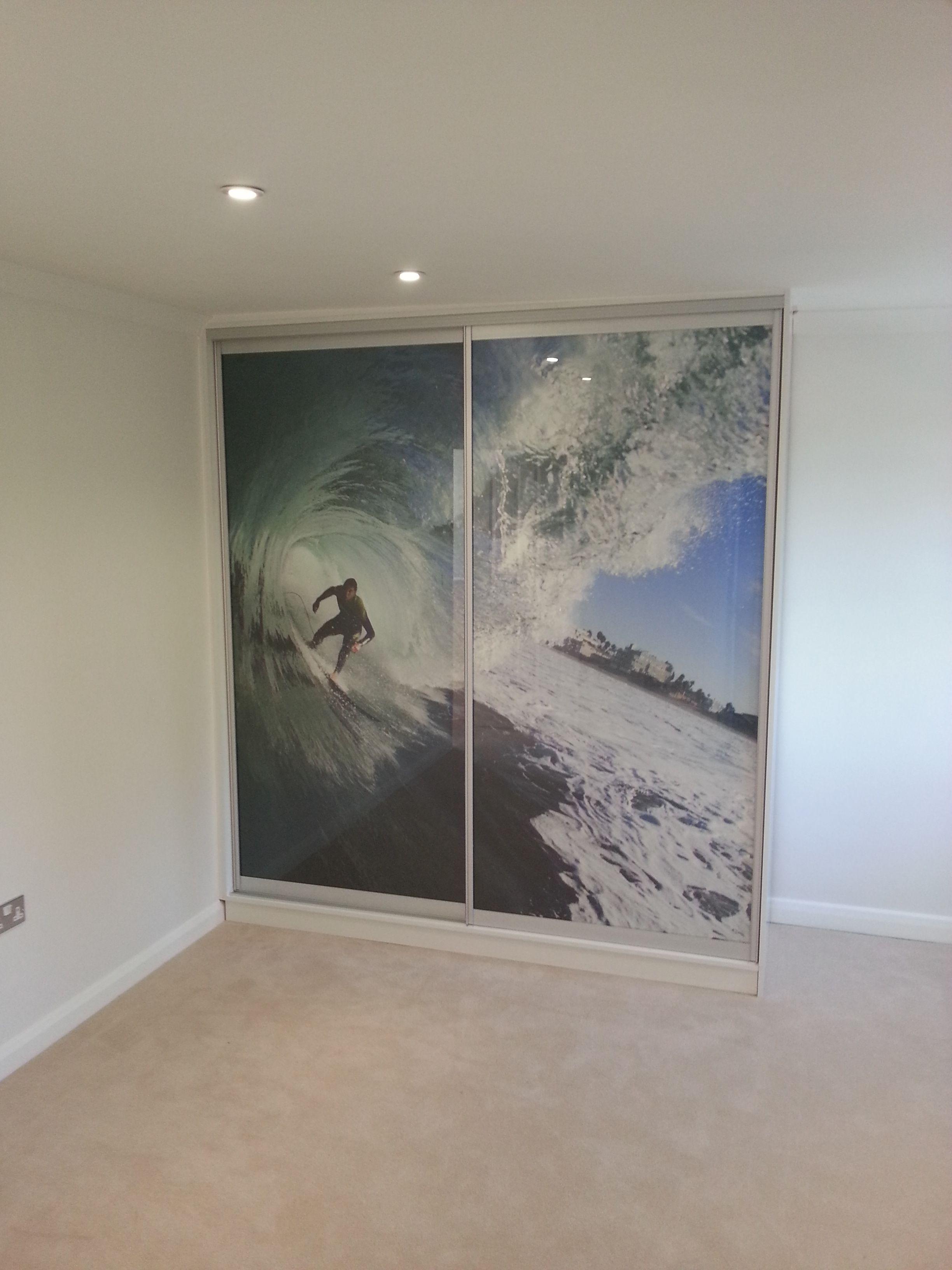 Bespoke Sliding Door Wardrobe With Custom Print By Kleiderhaus Www