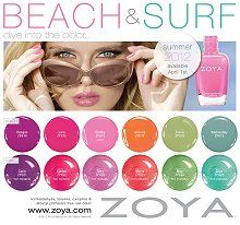 "Zoya ""Beach and Surf"" Collection."
