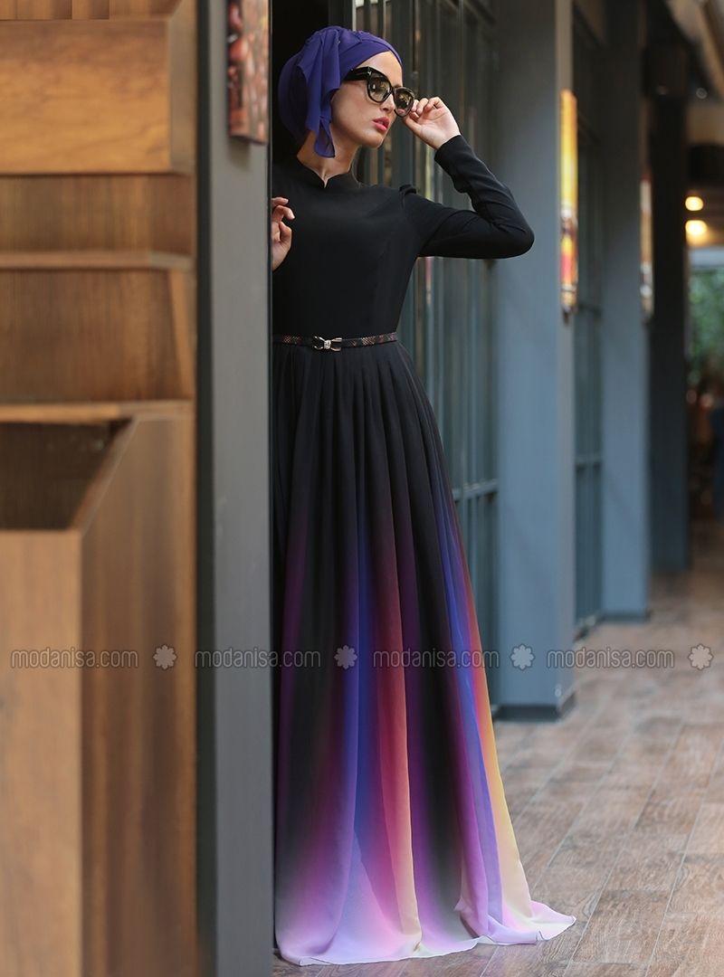 Rainbow Dress Black Selma Sari Design Rainbow Dress Dresses Formal Dresses Long [ 1080 x 800 Pixel ]