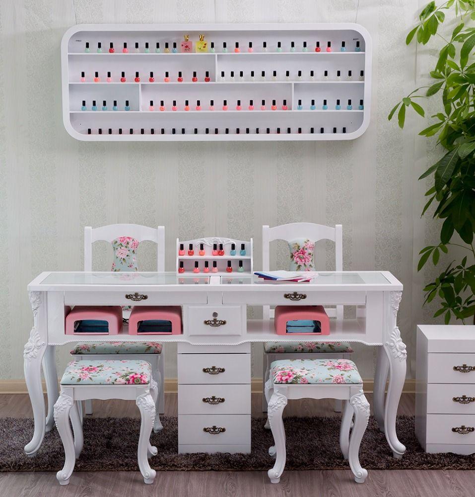 Nail Salon Furniture Cheap Manicure Table With GEL Lamp  decorscion Spa  Diseo de saln de