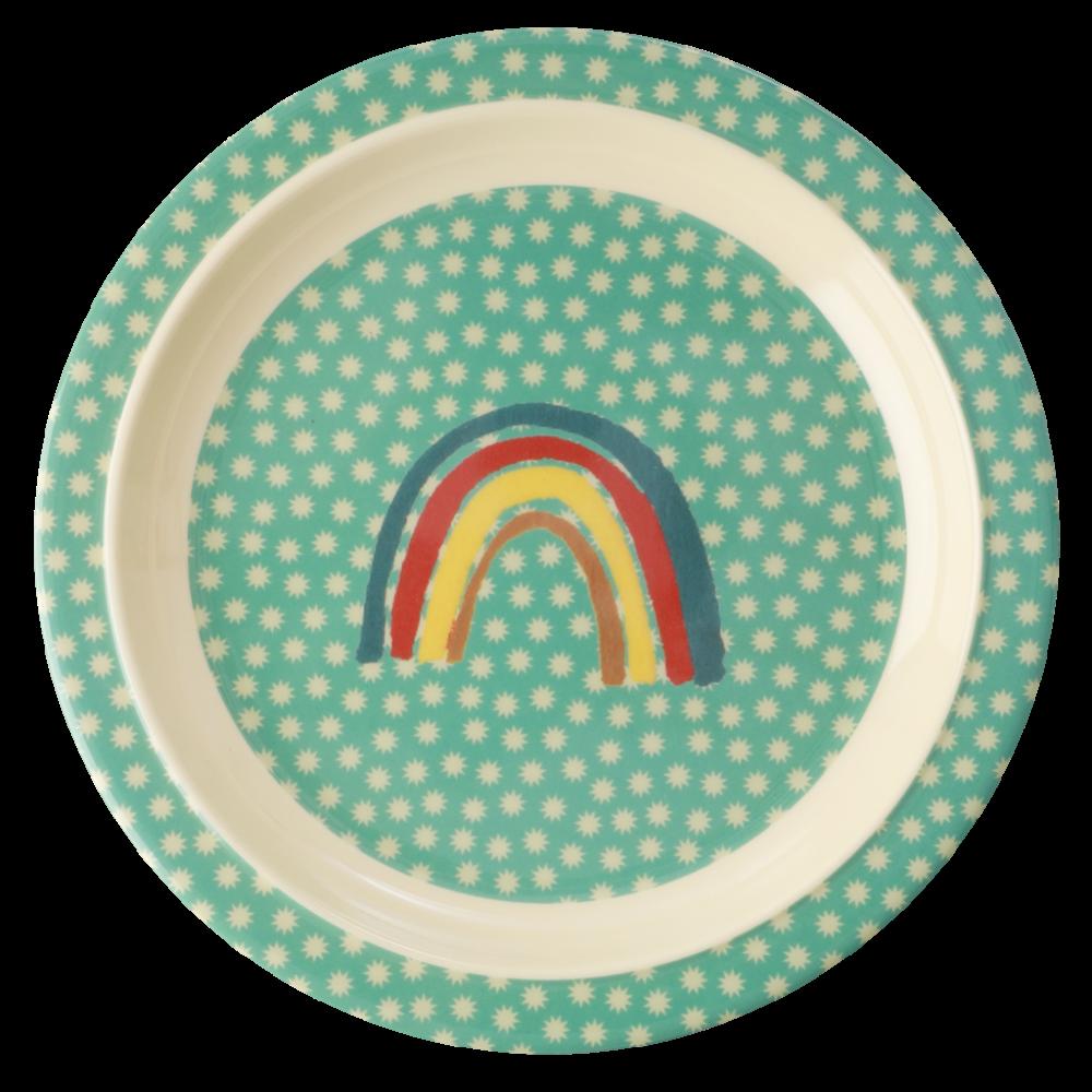 Rainbow Print Kids Melamine Plate By Rice Dk Kids Melamine Plates Kids Melamine Melamine Plates