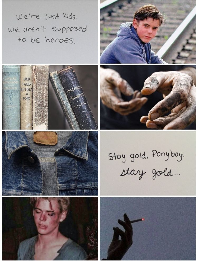 Ponyboy aesthetic | THE OUTSIDERS COLLECTION in 2019 | The