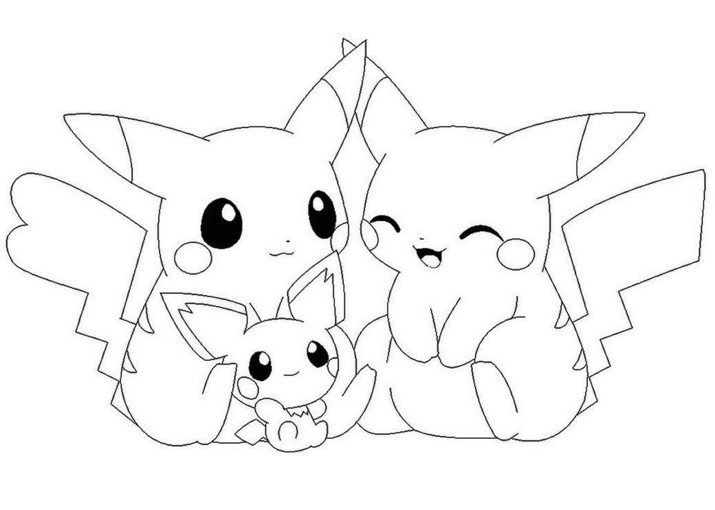 Love Pikachu And Pichu Coloring Pages Pokemon Coloring Pokemon Coloring Pages Pikachu Coloring Page