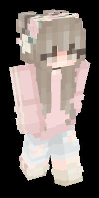 Playerslim Nova Skin Pink Hair Black Hair Minecraft Skin