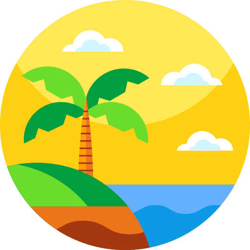 Hainan Scenery In Summer Summer Clipart Summer Vector Island Png And Vector With Transparent Background For Free Download Beach Icon Graphic Design Background Templates Beach Scenery