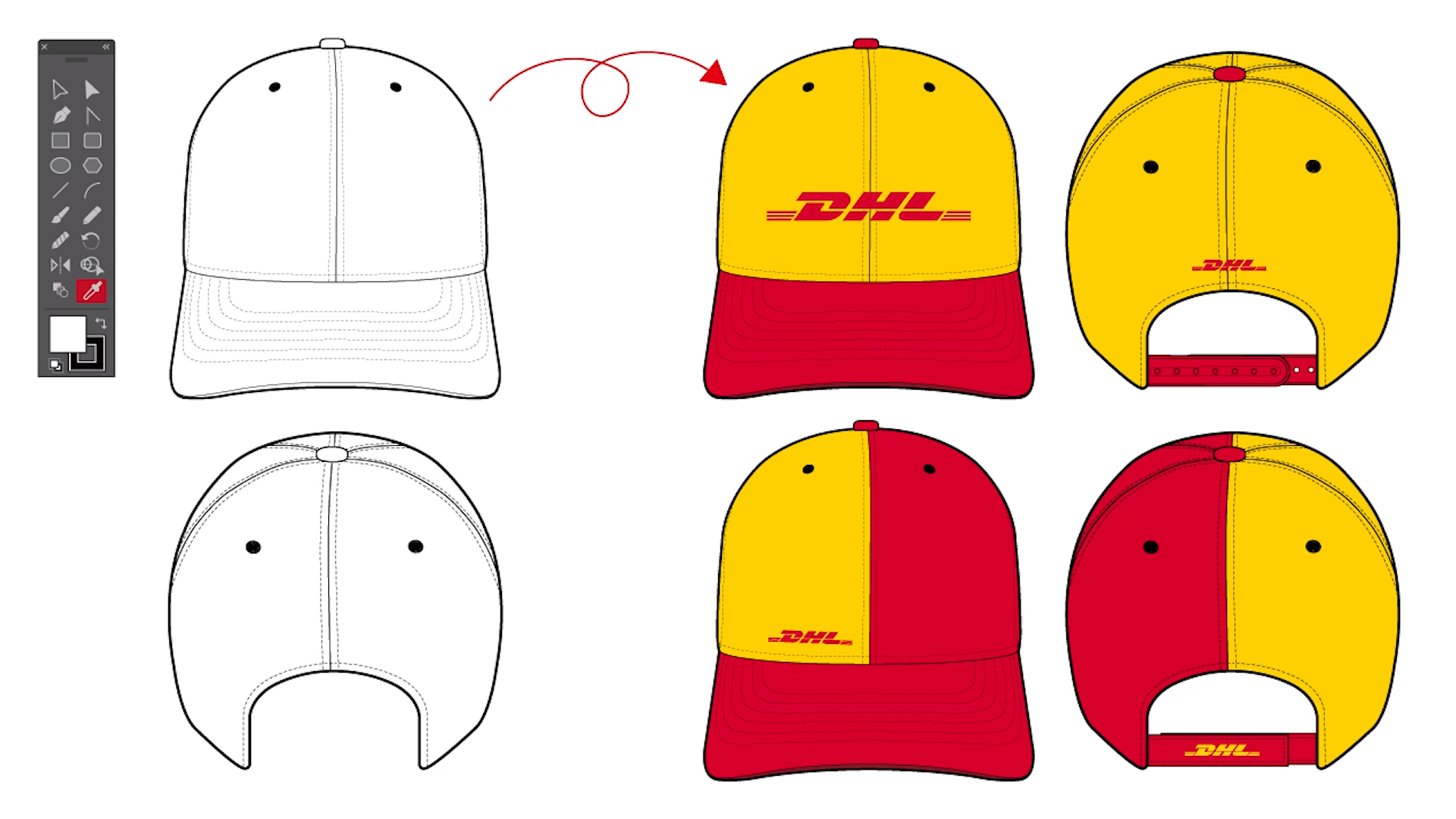 Fashion Flat Design Tutorial How To Use Baseball Cap Design Template Feat Dhl Video Fashion Flats Fashion Design Template Fashion Illustrations Techniques
