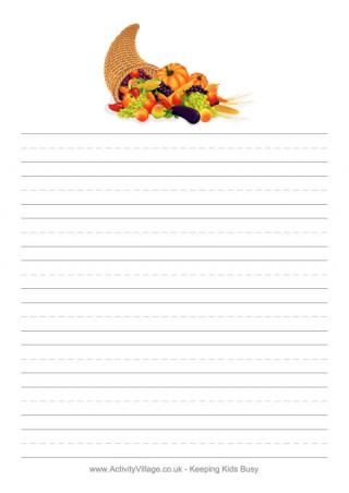 cornucopia writing paper elementary teacher s helps  cornucopia writing paper