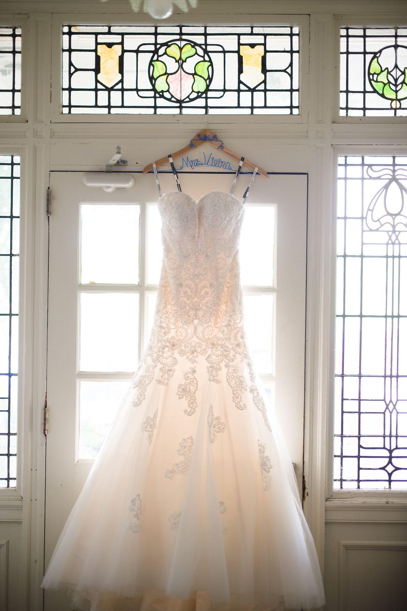 41a1a056614 Strapless Hand-Beaded Lace Trumpet Wedding Dress- 114293 Beryl ...