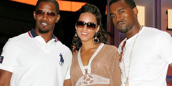 Jamie Foxx Alicia Keys And Kanye West Black Music Love N Hip Hop Celebrities
