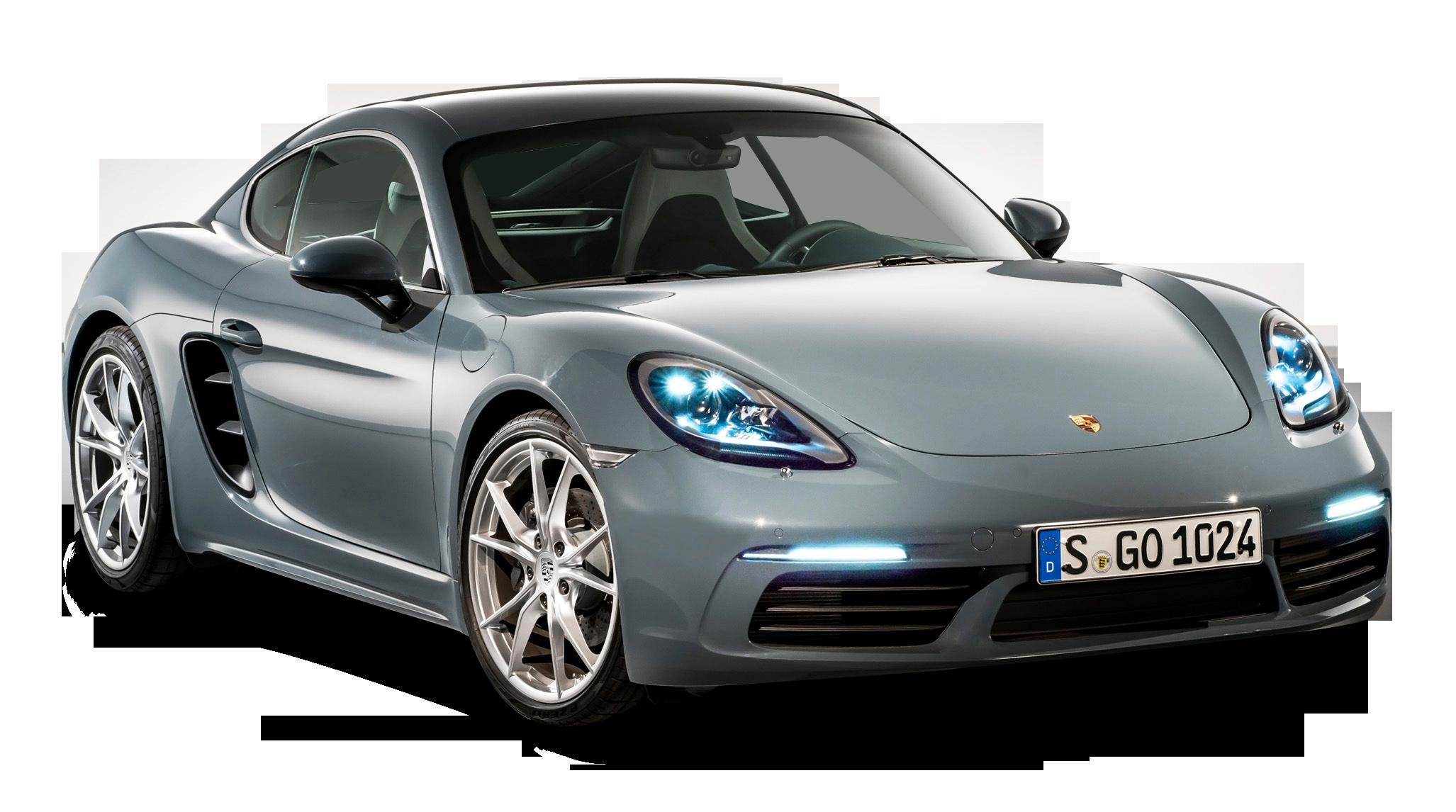 Grey Porsche 718 Cayma Car Png Image Car Side View Car Porsche