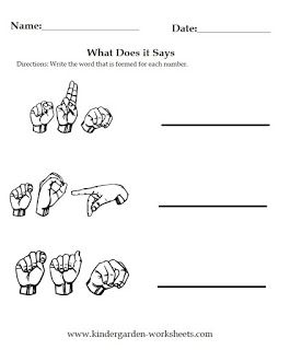 Worksheets Sign Language With Images Sign Language Words