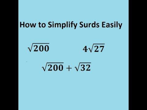 Simplifying Surds Easily The Trick For Gcse And A Level Core 1