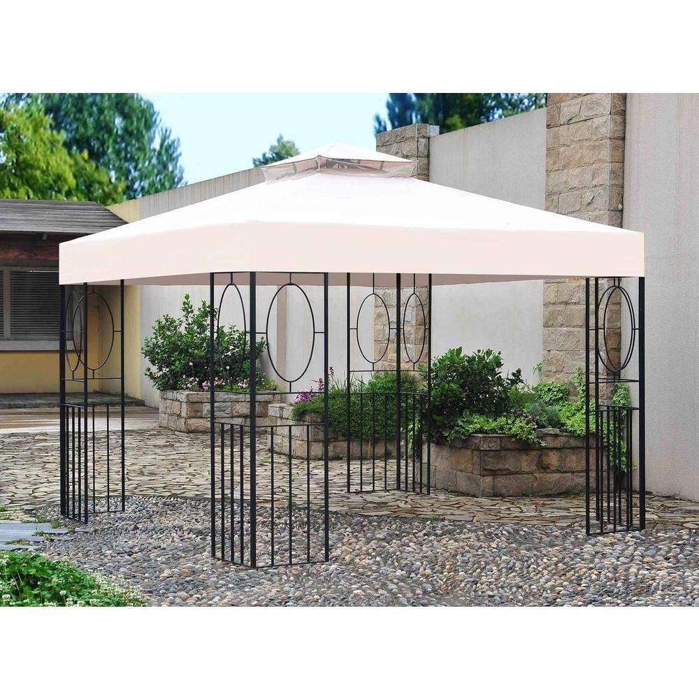 Unbranded 10 Ft X 10 Ft Masley Ez Set Gazebo L Gz209pst I The Home Depot Patio Gazebo Gazebo Outdoor Shade