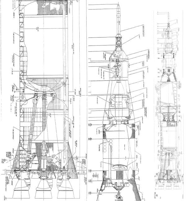 saturn v rocket diagram specs