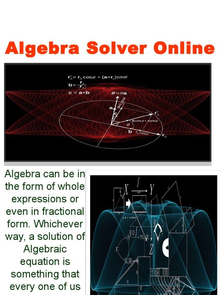 Algebra Solver Online | Online Math Problem Solver | Pinterest ...