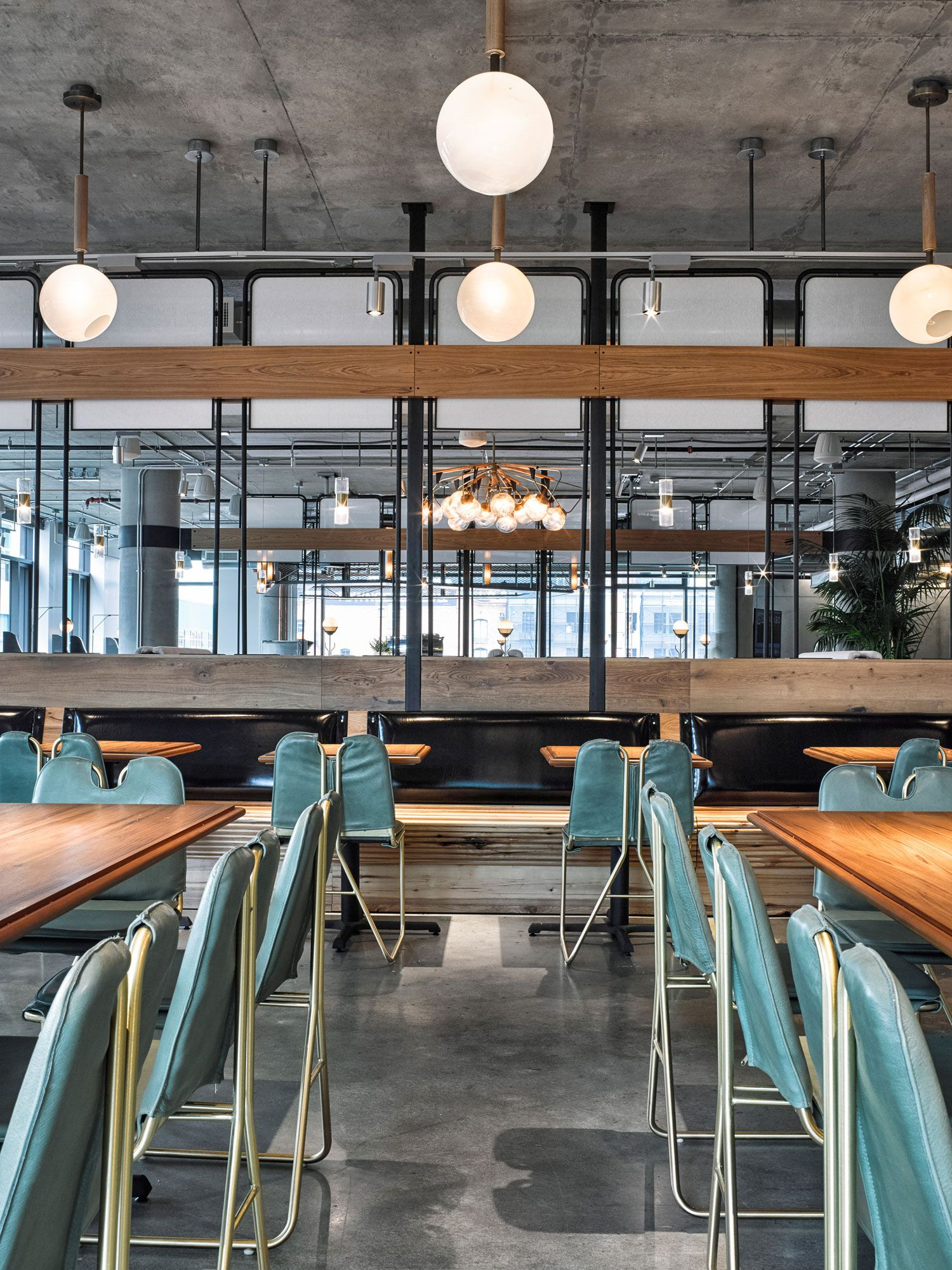 avroko designs a workplace cafeteria for dropbox. | restaurants