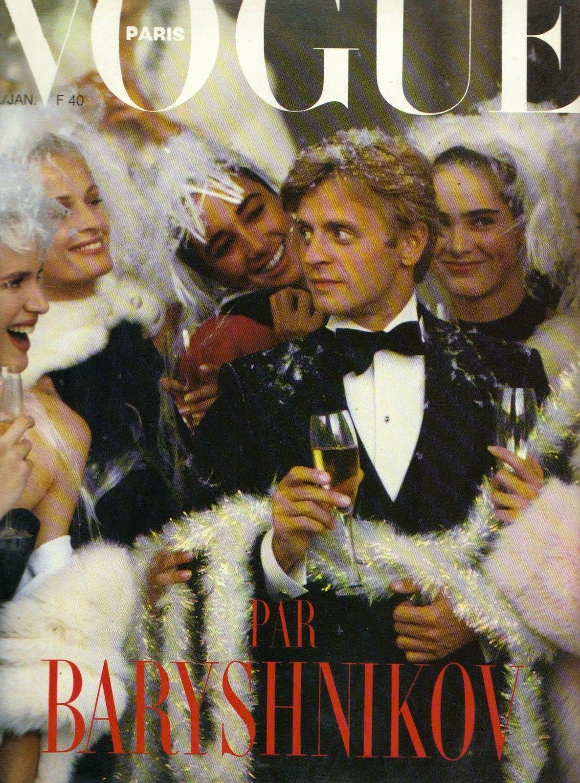 PARIS VOGUE - JANUARY 1986 COVER MODEL : MIKHAIL BARYSHNIKOV