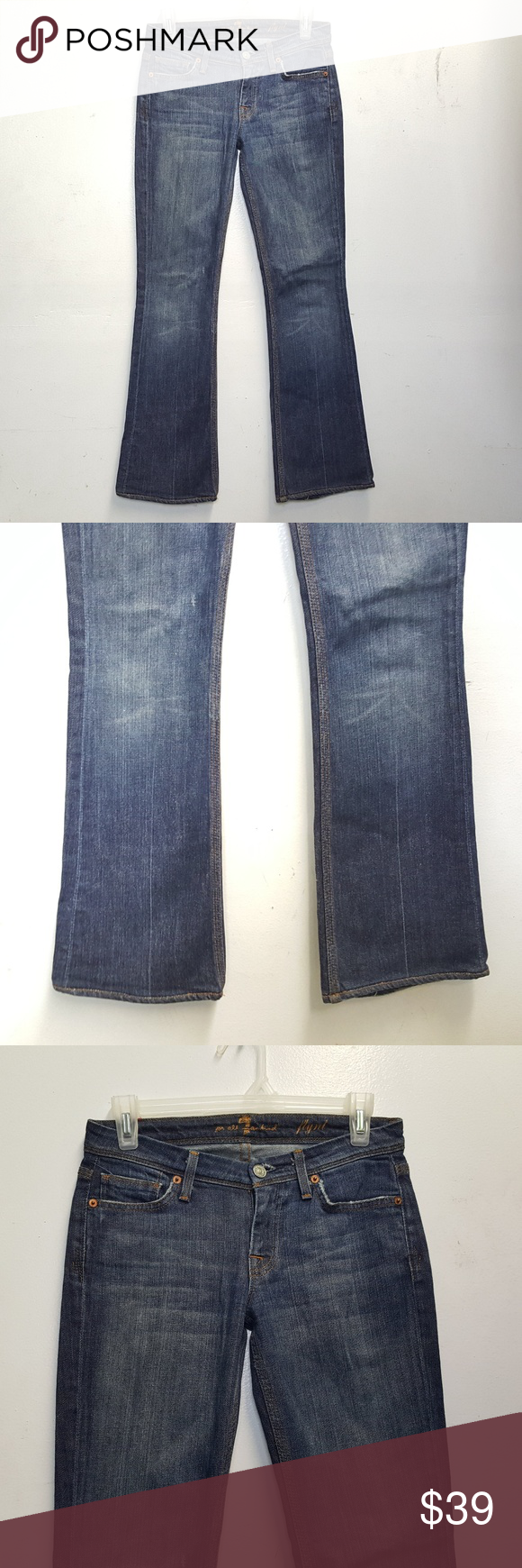 64c266f6d3b 7 Seven For All Mankind Flynt Bootcut Jeans 7 Seven For All Mankind Flynt  Bootcut Jeans Women's Size 24 Dark wash 29 Inseam In excellent condition.