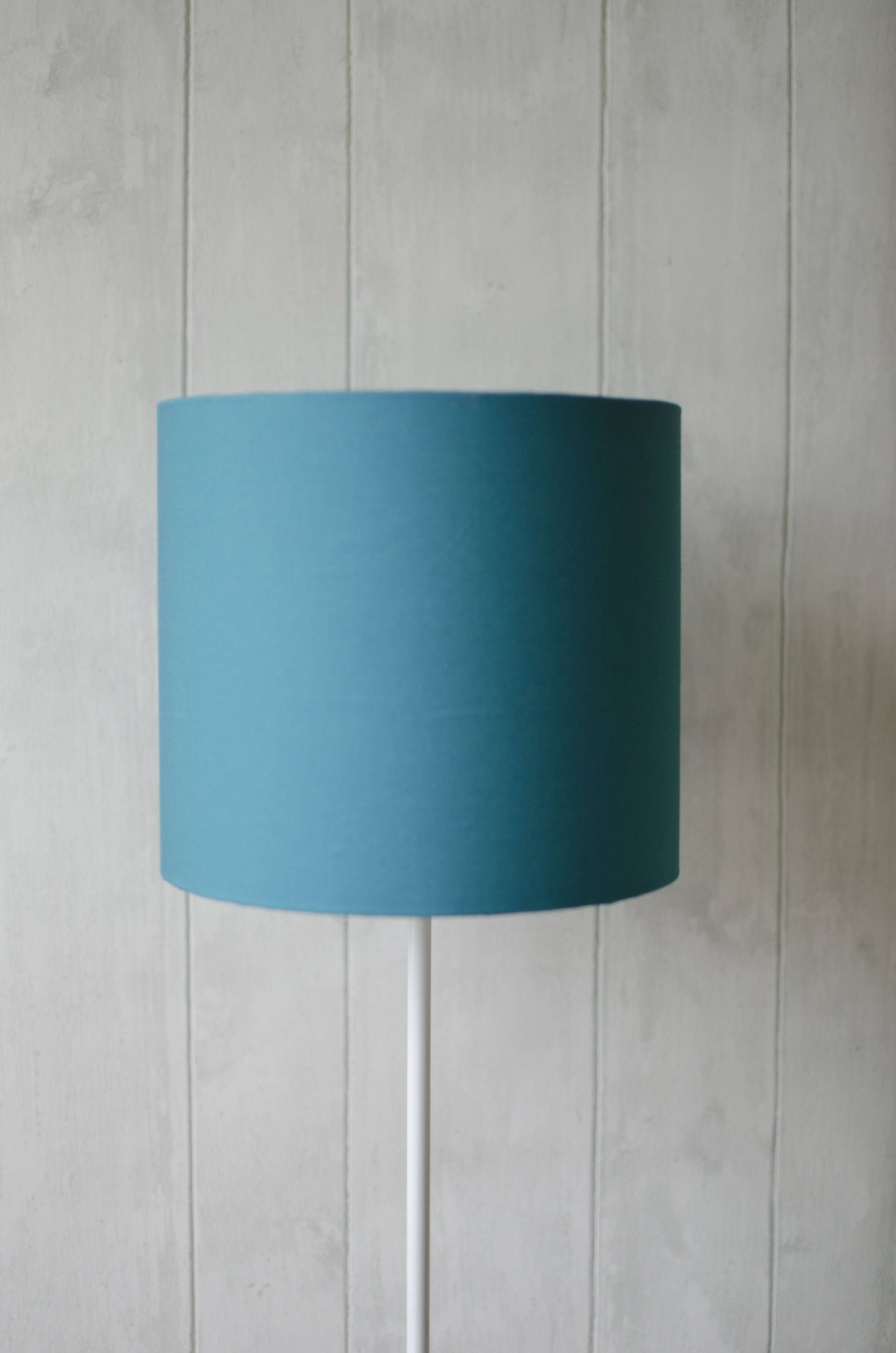 Turquoise Lamp Shade Turquoise Home Decor Simple Lamp Plain