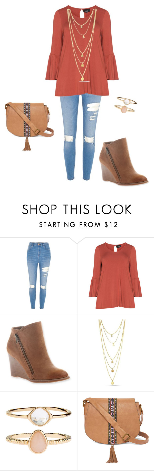 """Fall"" by jcmckeon on Polyvore featuring River Island, Zhenzi, Accessorize and T-shirt & Jeans"