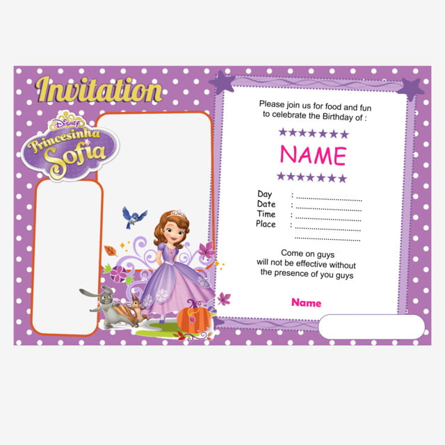 sofia the first background invitation Google Search in