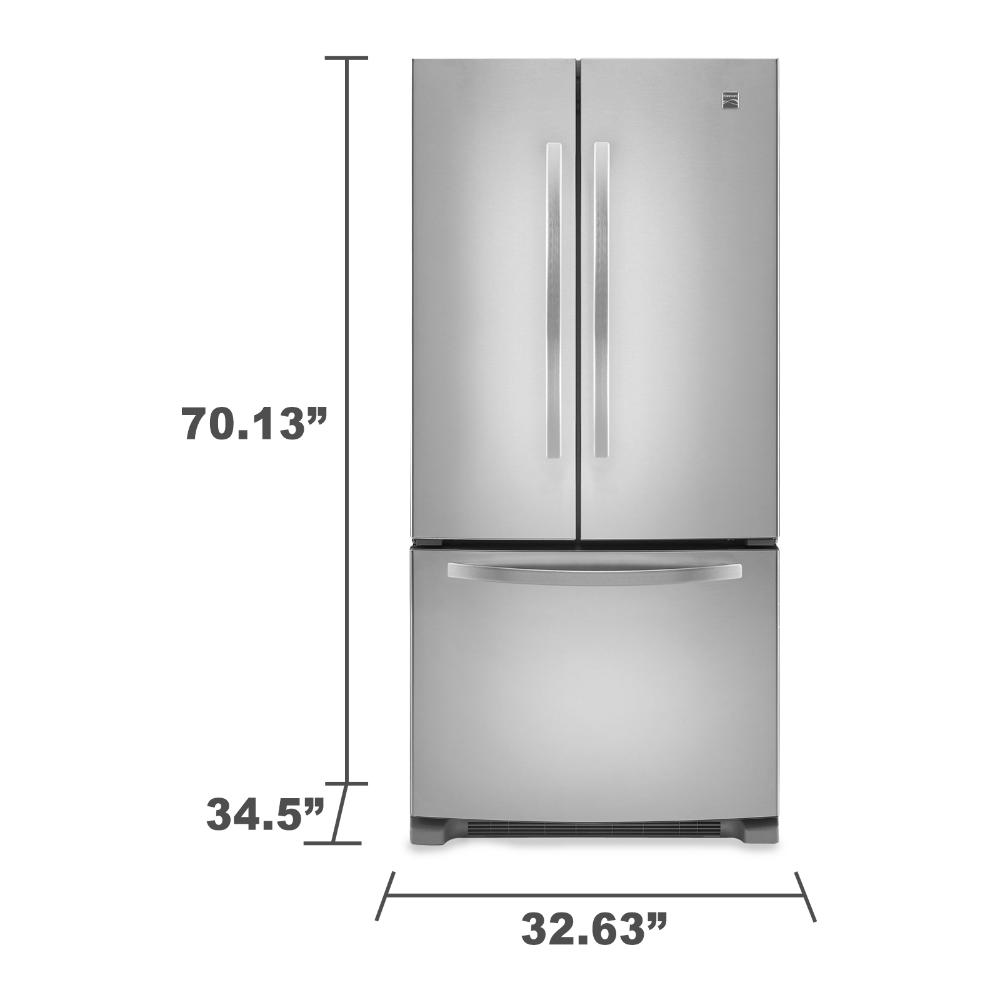 Kenmore Elite 72373 29 Cu Ft Grab N Go French Door Bot With Images French Door Bottom Freezer Refrigerator French Door Bottom Freezer Classic White Kitchen