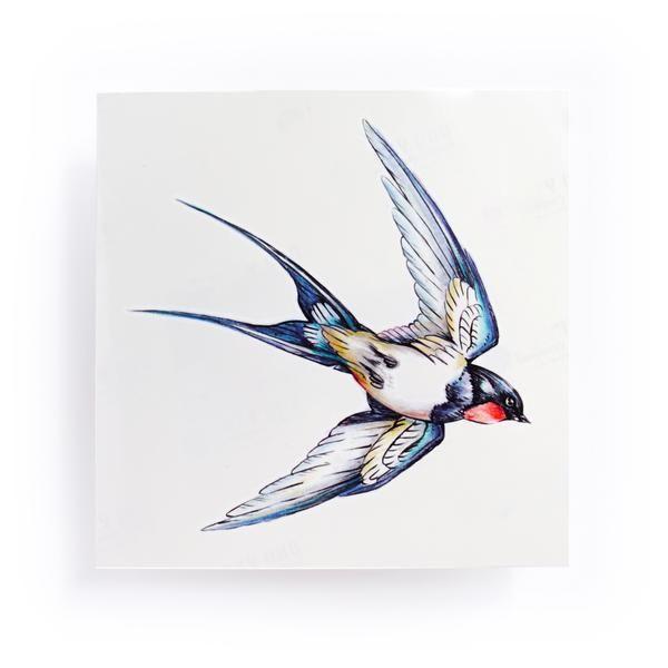 55bff795d1080 Korea Fineline Watercolor Delicate Swallow Tattoo Sticker Bird Temporary  Tattoo HK Hong Kong Vintage Classic 復古