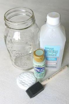 How To Paint Mason Jars - Making Manzanita