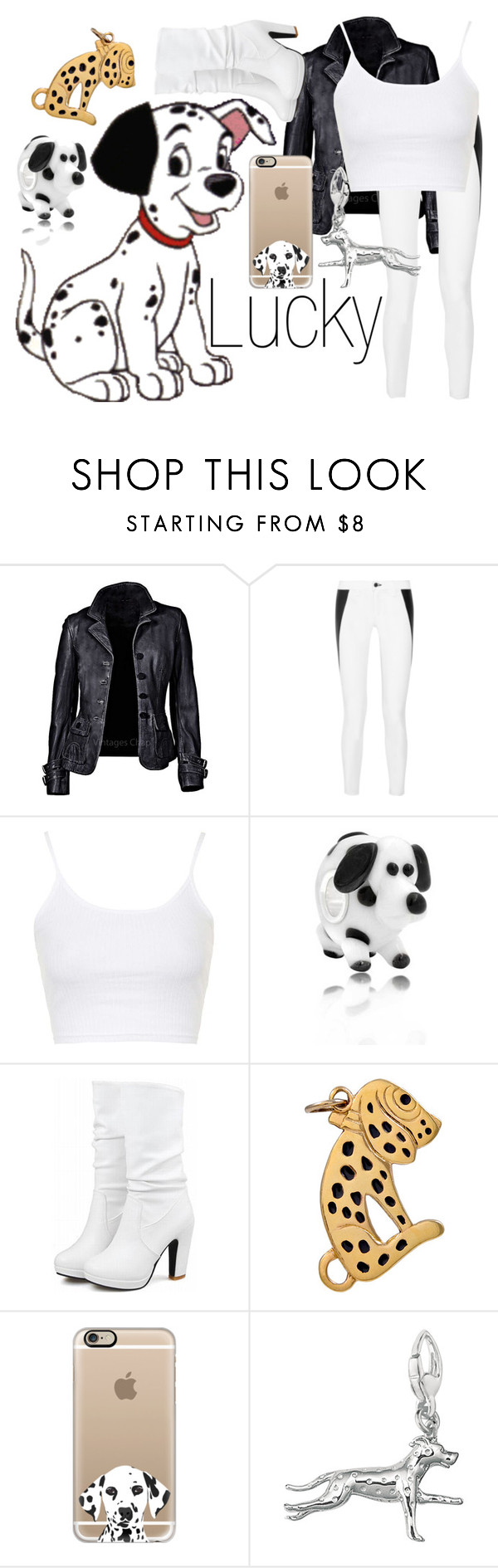 """""""Lucky~ DisneyBound"""" by basic-disney ❤ liked on Polyvore featuring Disney, rag & bone, Topshop, Bling Jewelry and Casetify"""
