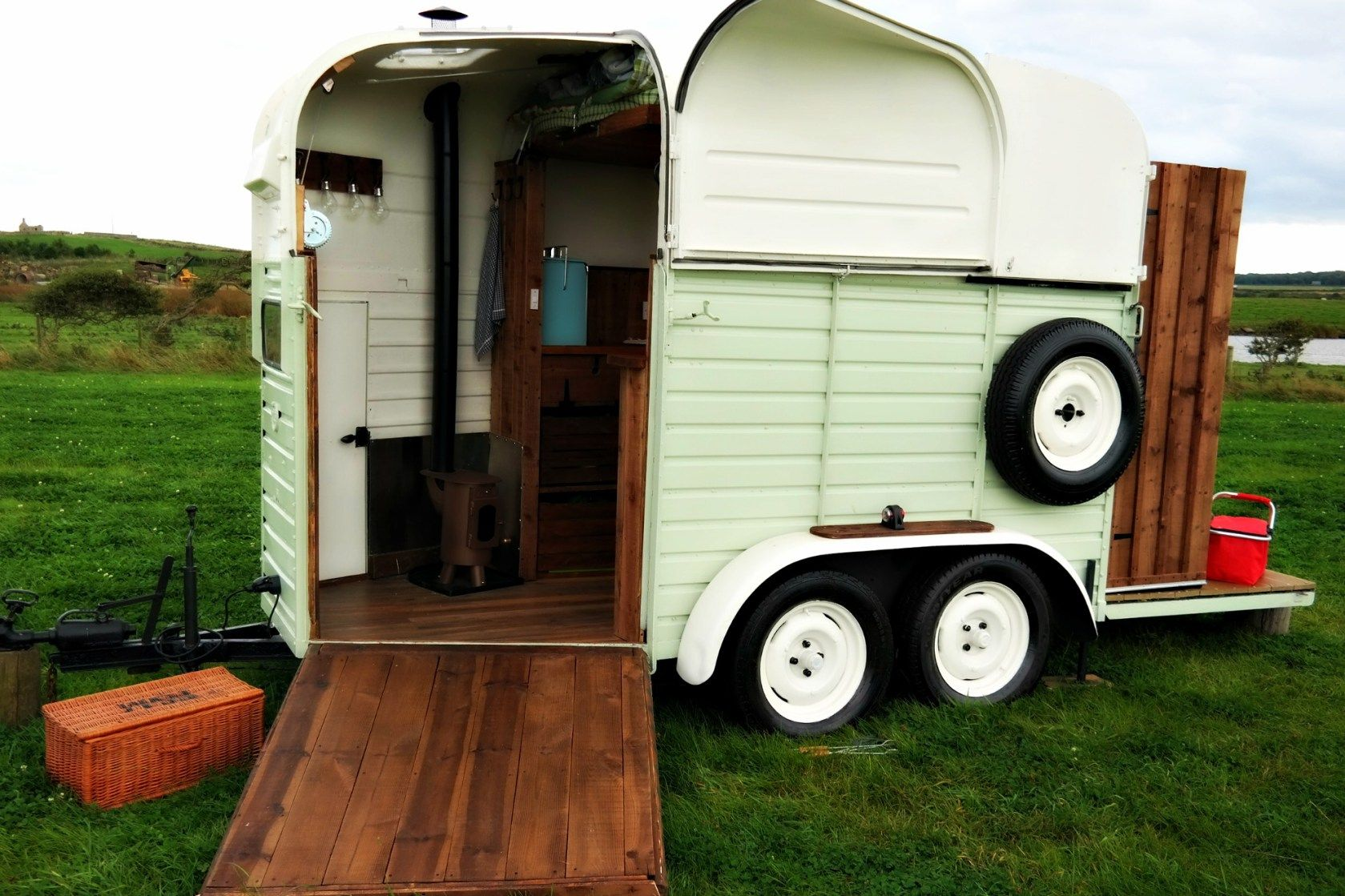 Converted Rice Horse Trailer for Glamping | Bucket List ...