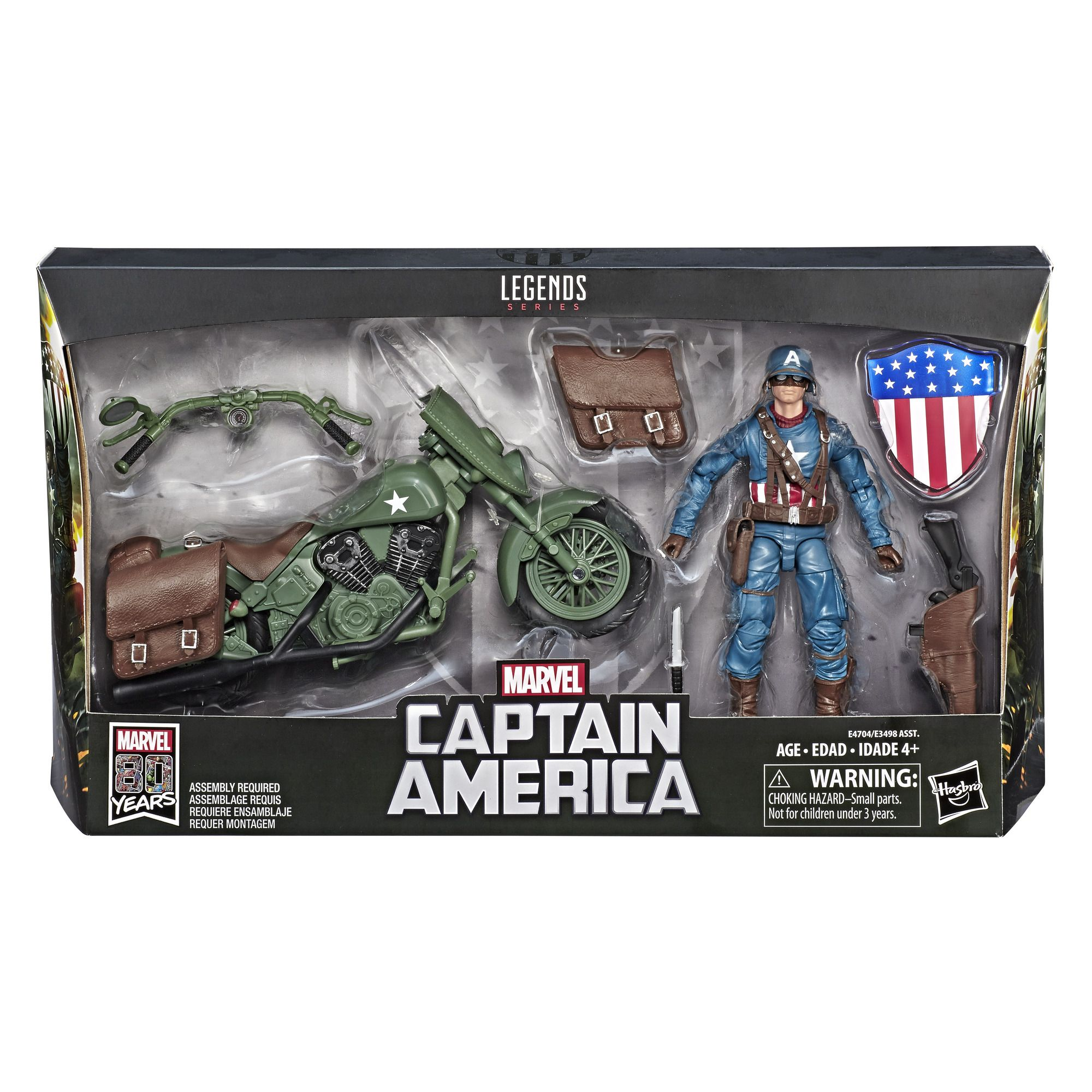 Figurine 15 cm Captain America Edition Collector Marvel Comics 80e anniversaire Legends Series