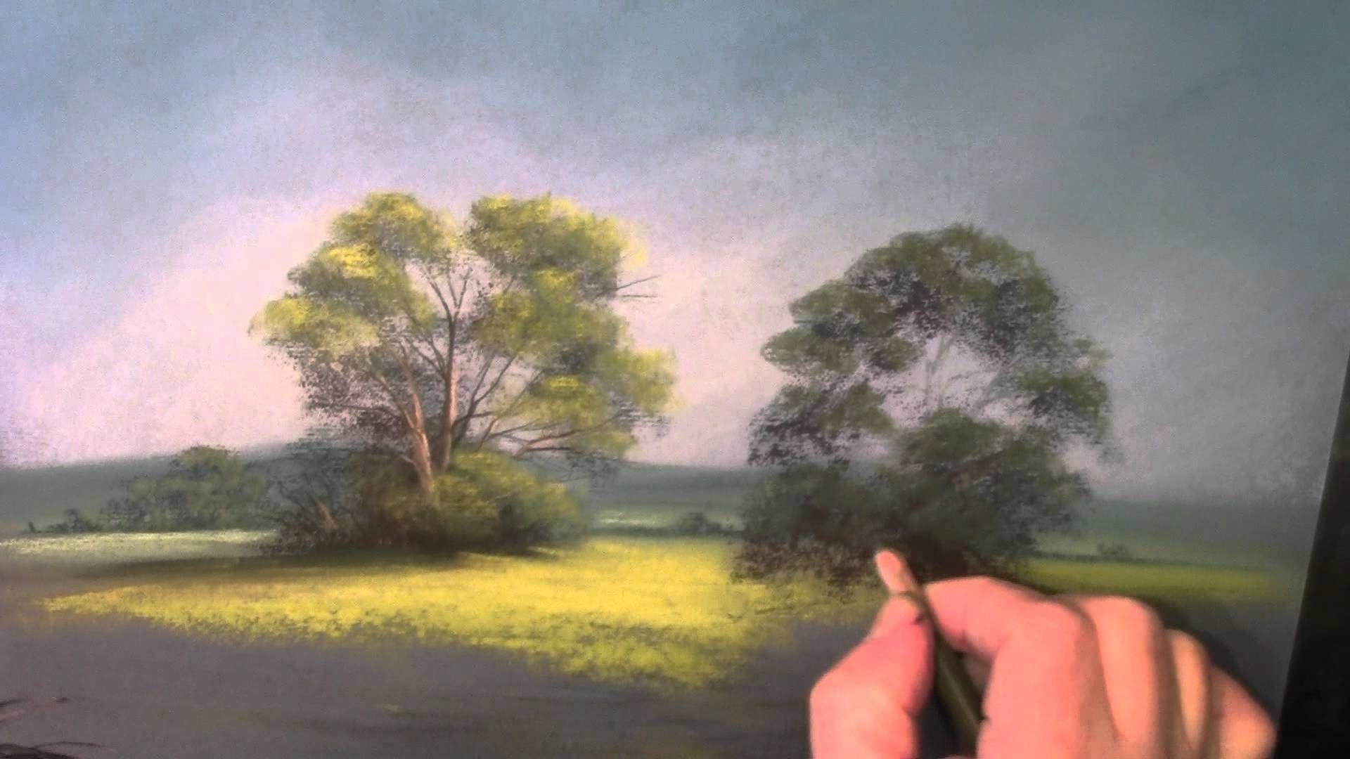 Moody Views Trees In Pastel Youtube Pastell Kreide Pastell Malerei Pastellkreide Kunst