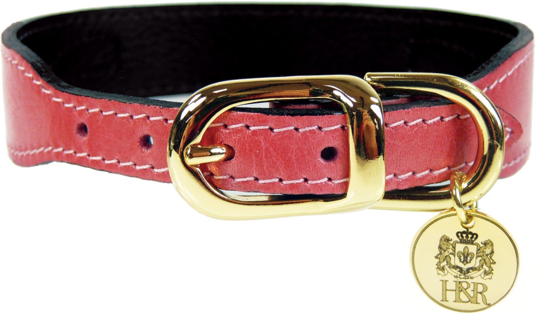 H & R Petal Pink and Gold Dog Collar Shop Online Kaylo