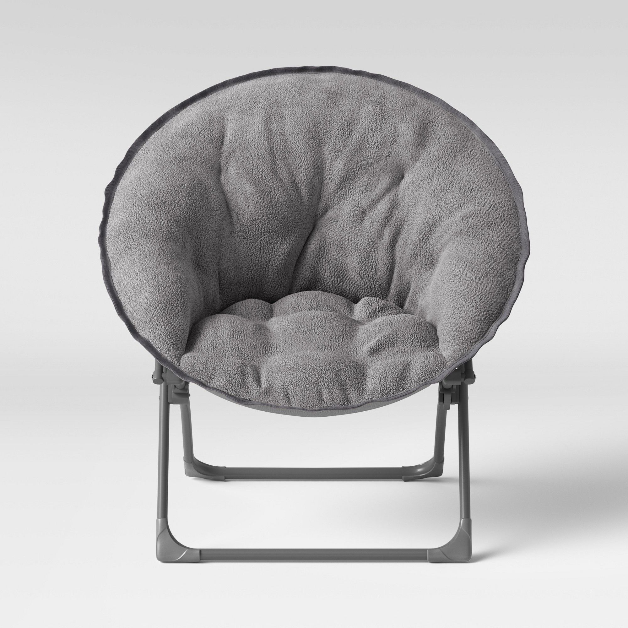 Sensational Fuzzy Kids Saucer Chair Gray Pillowfort Products Grey Forskolin Free Trial Chair Design Images Forskolin Free Trialorg