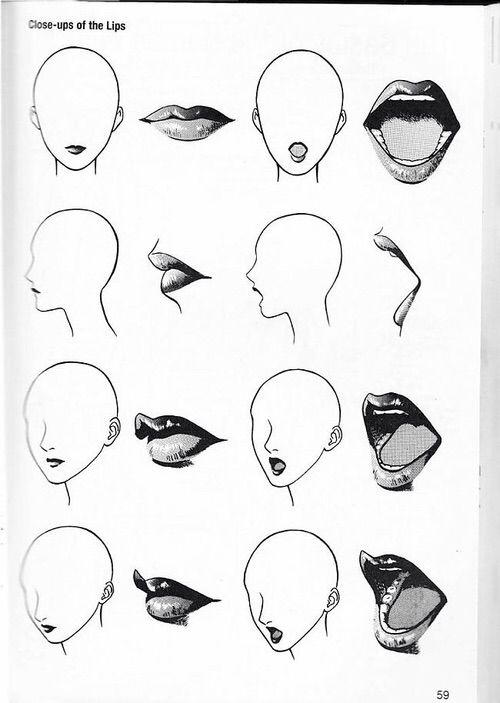 Image via We Heart It #face #lips #model #mouth #nose #howtodraw #gesicht #mund #modwl