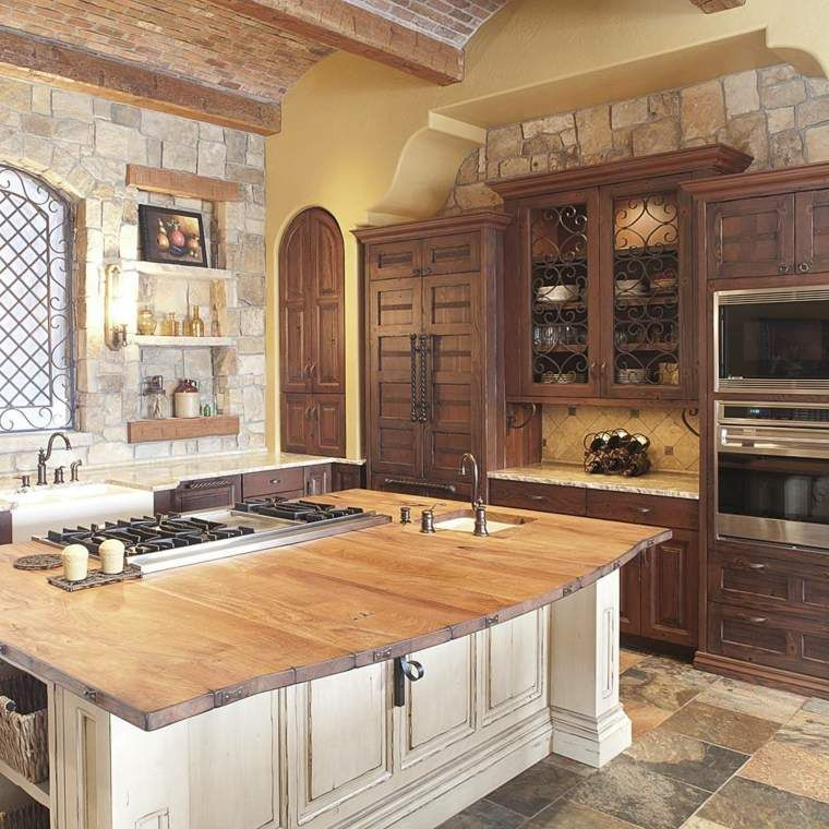 68 idee per un bancone da cucina in legno design #bancone #cucina ...