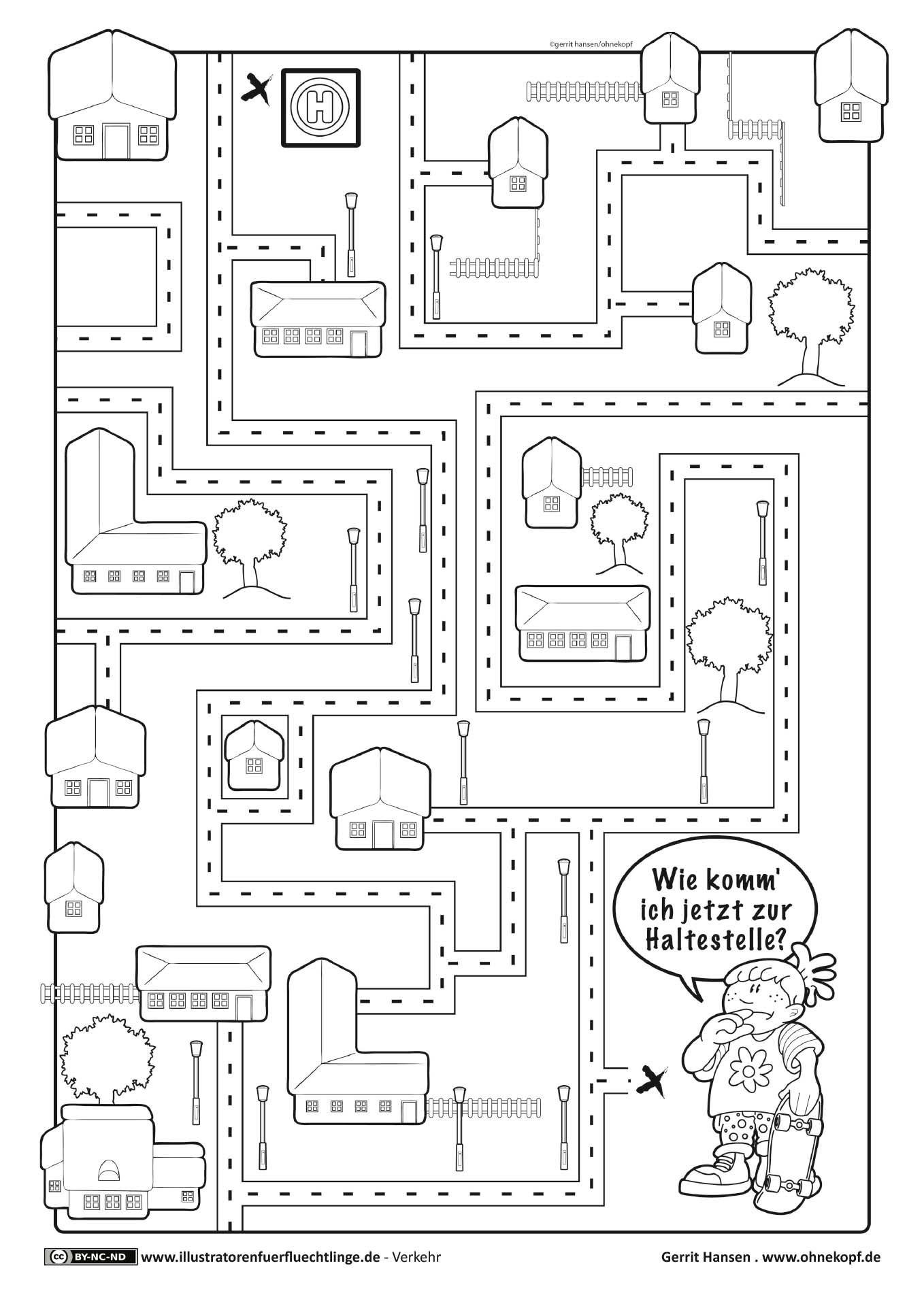 download als pdf verkehr labyrinth hansen hauptschule pinterest verkehrserziehung. Black Bedroom Furniture Sets. Home Design Ideas