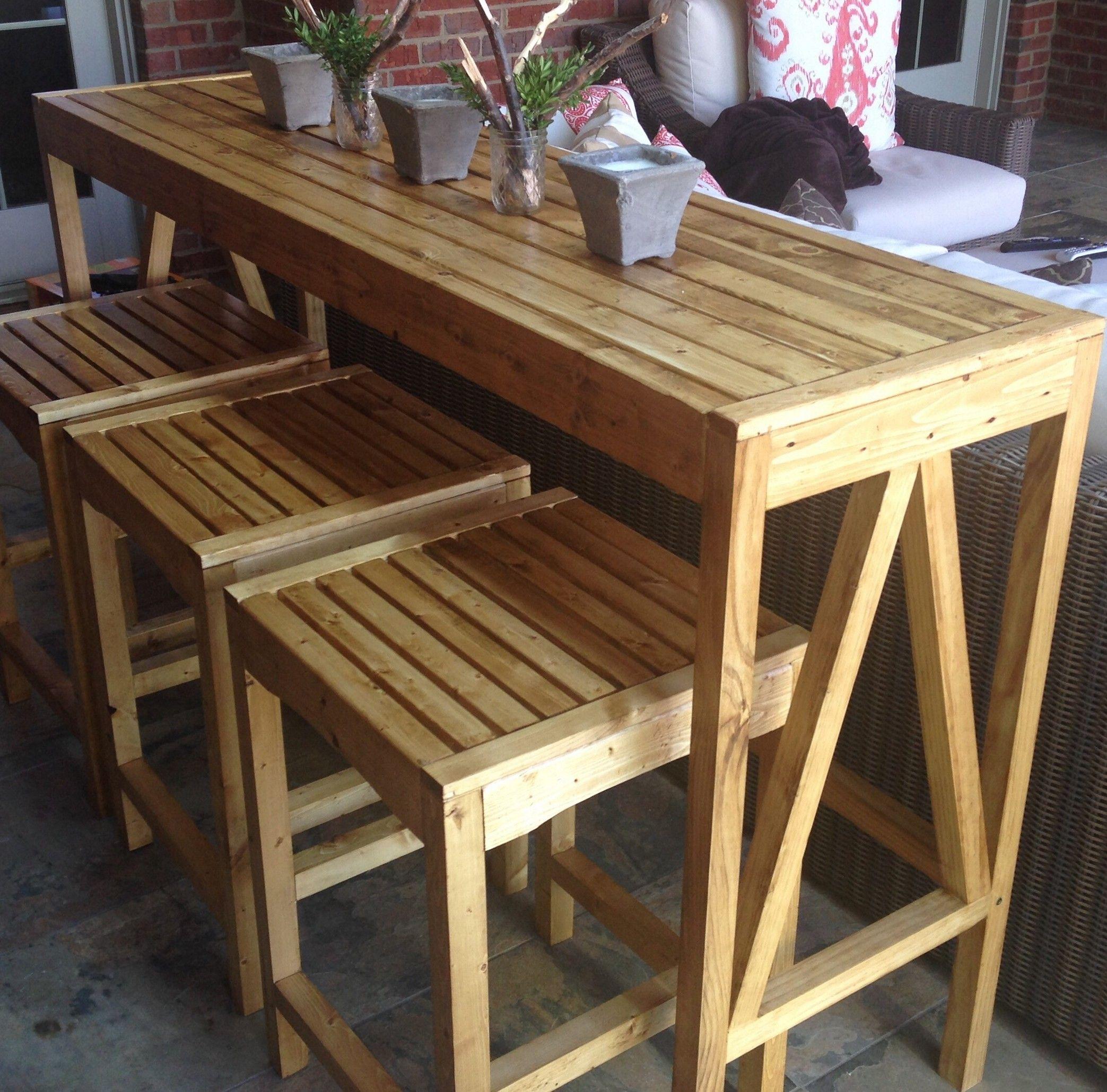 Nice DIY Outdoor Bar Table Ideas
